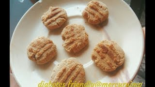Diabetic-Friendly, Vegan Cookies: Gluten-Free Sugarless Flourless Treat (Baked on Tawa)