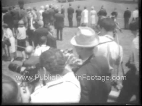 Luci Baines Johnson and Patrick John Nugent Wedding 1966 archival footage.