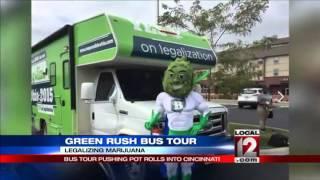 Bus tour pushing pot legalization rolls into Cincinnati