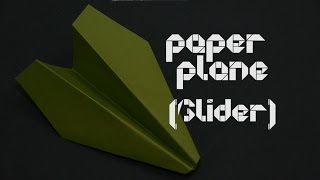 How To Make A Origami Paper Airplane Glider - By Origamiartists