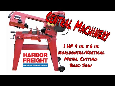 Central Machinery 1HP Vertical/Horizontal Metal Cutting Band Saw