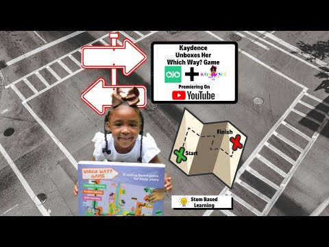 Kaydence and Mom Unbox the Which Way? Coding Board Game from OJO | Quarantine Activity