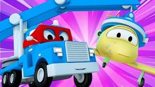 Детские мультики с грузовиками - Супер кран с магнитом - Трансформер Карл в Автомобильный Город 🚚 ⍟
