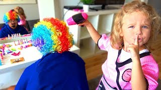 Milusik  play Hairdresser Profession for kids Makeup for Papa