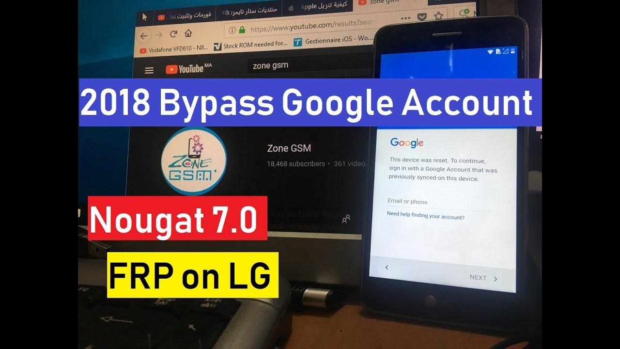 April 2018 Bypass Google Account verification FRP for LG k4 k5 k8 k10  Android 7 0