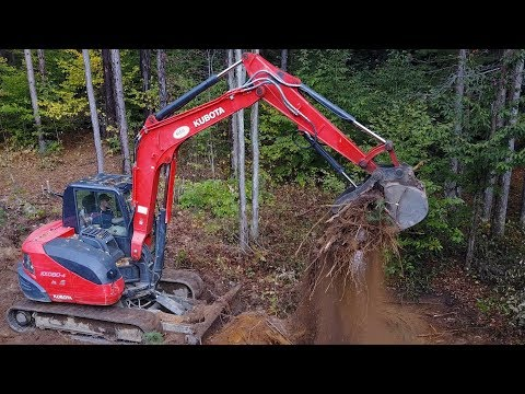 First Time Renting!! KUBOTA KX080-4 (Road Project)