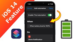 iOS 14 Feature   Siri Shortcut Automation   Battery Percentage! screenshot 2