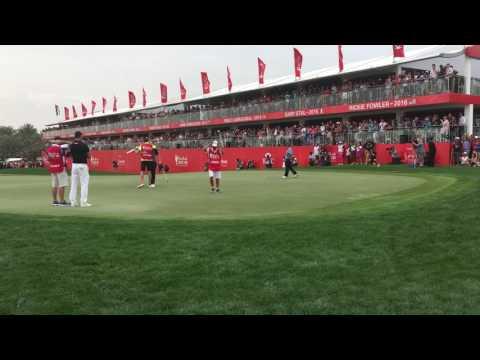 Tommy Fleetwood wining putt at the 2017 Abu Dhabi HSBC Golf Championship