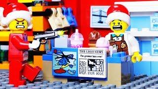 LEGO SANTA CLAUS SHOPPING ROBBERY FAIL - CHRISTMAS ANIMATION CARTOON