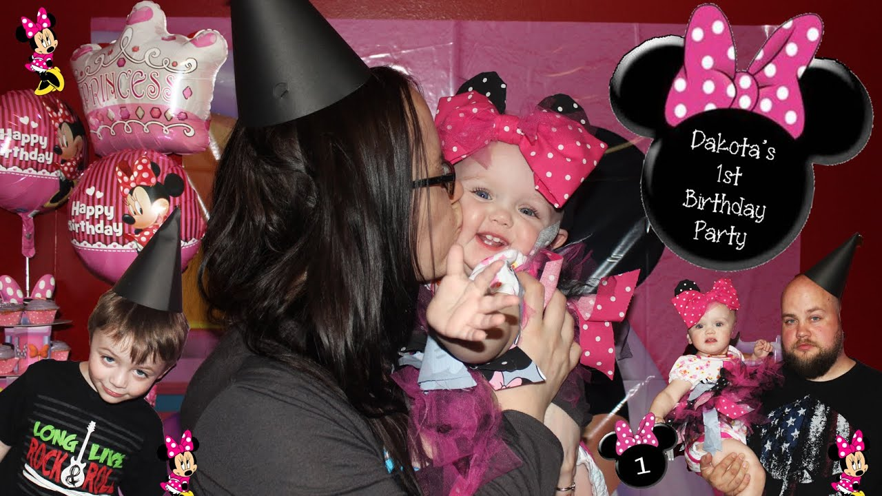 Dakotas First Birthday Party Minnie Mouse Vlog with Tips Ideas