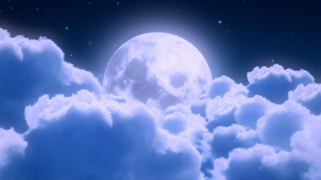 bedtime lullabies for babies to fall asleep moon with clouds youtube