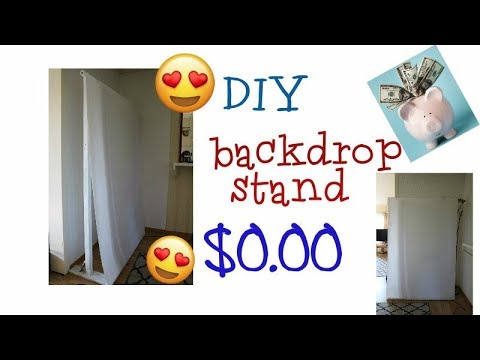 DIY backdrop Stand ( I SPENT NO MONEY AT ALL)