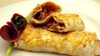 Fırında Paçanga Böreği Tarifi - Pastırmalı Paçanga Böreği