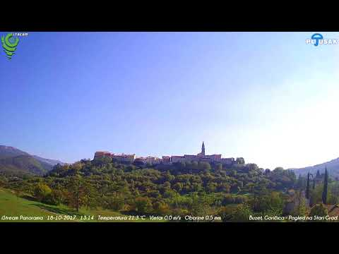 Buzet, Goričica, Pogled na Stari Grad 18-10-2017 Day HD TimeLapse