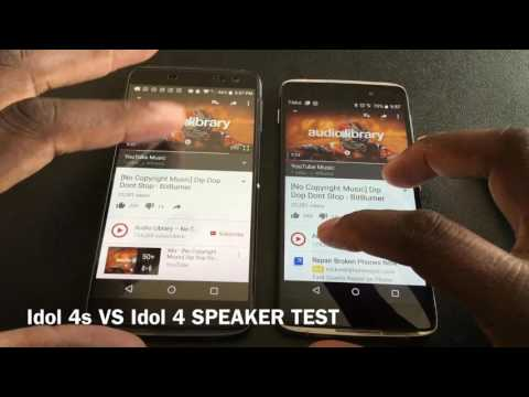 Alcatel Idol 4s VS Idol 4 SPEAKER TEST