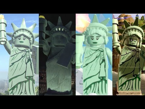 Statue of Liberty Evolution in Lego Videogames!!!!