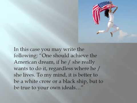 Видео Education american dream essay