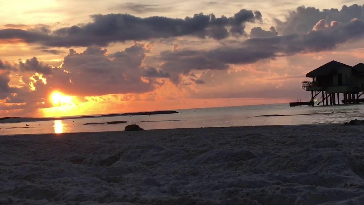Sunrise At The Mexico Over Water Palafitos El Dorado Maroma Beach All Inclusive Resort