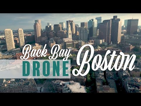 Back Bay, Boston Drone / Aerial (4k)