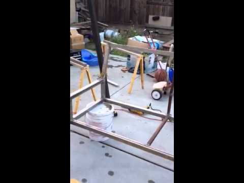 Making a metal swing set part 1