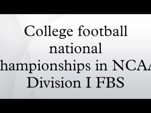 ncaa football division 1 cfb national championship