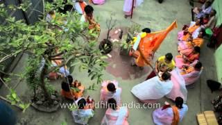 Manipuri women sing in praise of holy consort Radha-Krishna