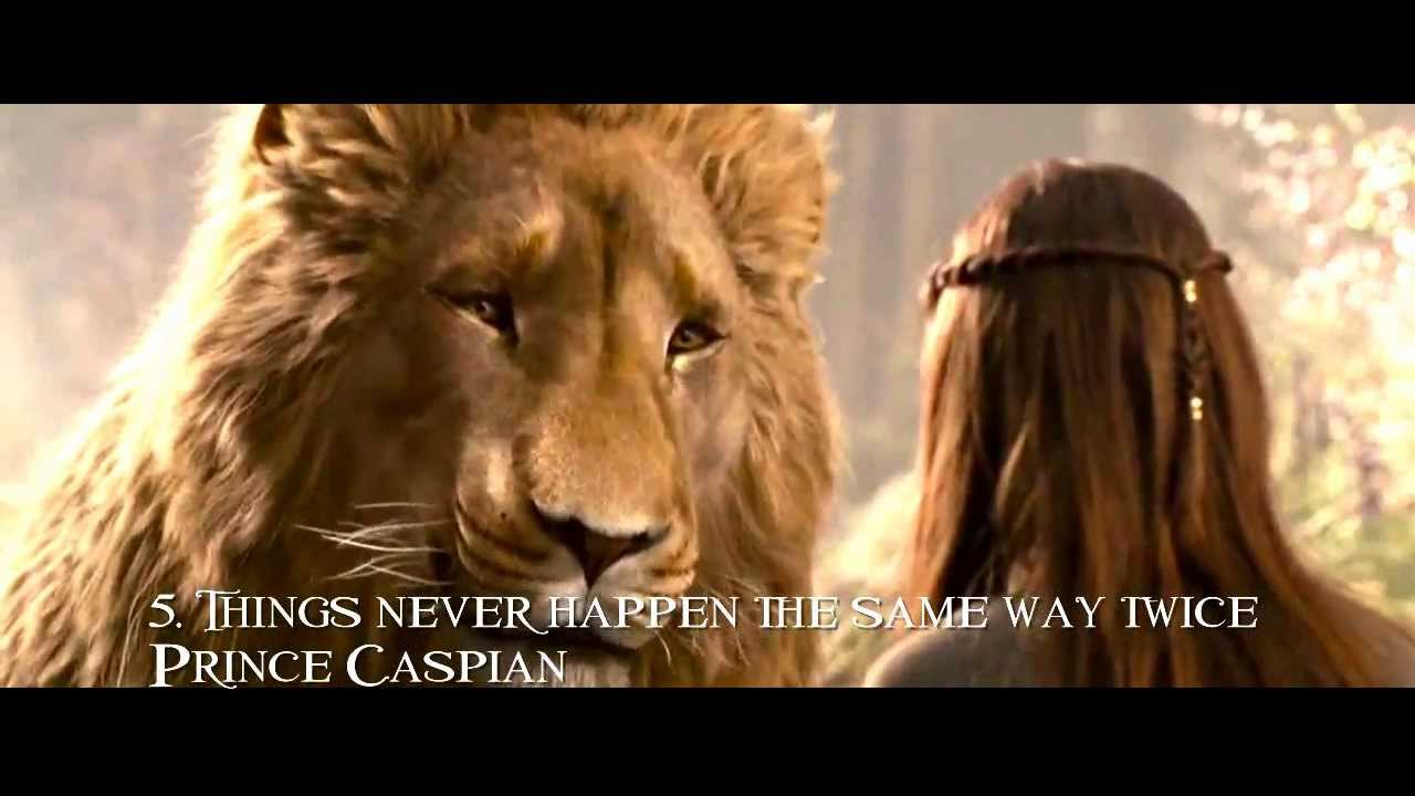 "Prince Caspian, Lucy and Aslan ""Things never happen the same way ... for Narnia Movie Quotes  181obs"