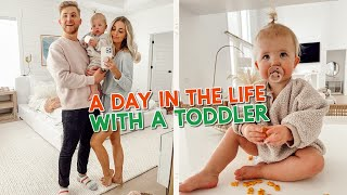 a day in the life with a one year old! our morning + activity of the day!