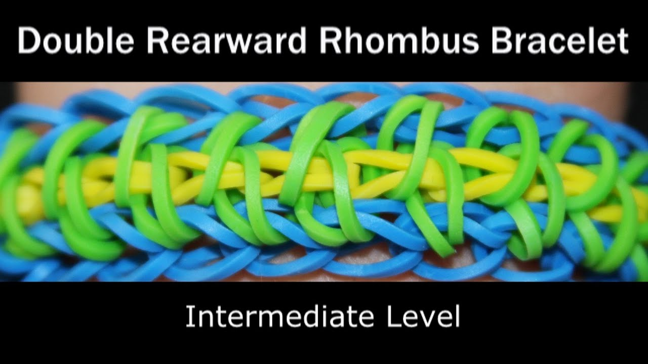 Rainbow Loom® Double Rearward Rhombus Bracelet - YouTube