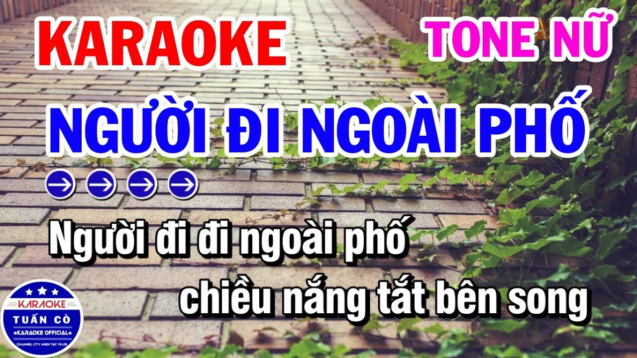 Karaoke Người Đi Ngoài Phố | Nhạc Sống Tone Nữ | Karaoke Tuấn Cò
