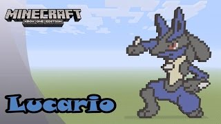 Minecraft: Pixel Art Tutorial and Showcase: Lucario (Pokemon)