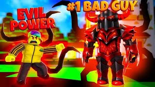 I got the VILLAIN'S POWER and destroyed the #1 BAD GUY (Roblox)