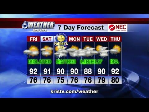 Coastal Bend weather forecast 6/14/18 6PM