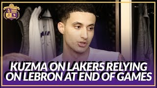 Lakers Post Game: Kyle Kuzma on If the Team Relies to Heavily On LeBron To Close The Game