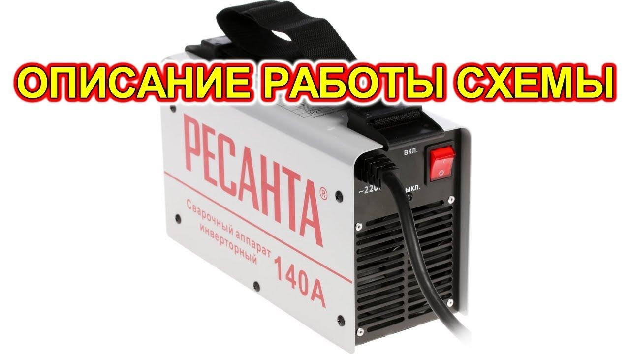 Как работает сварочный инвертор Ресанта САИ 140