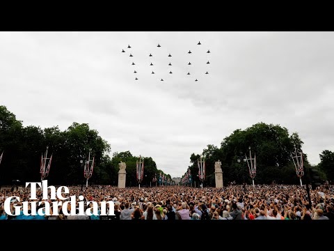 RAF celebrates 100 years with 100aircraft flypast