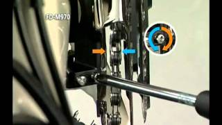 Shimano XTR  service intallation of the front derailleur FD M970 971.flv