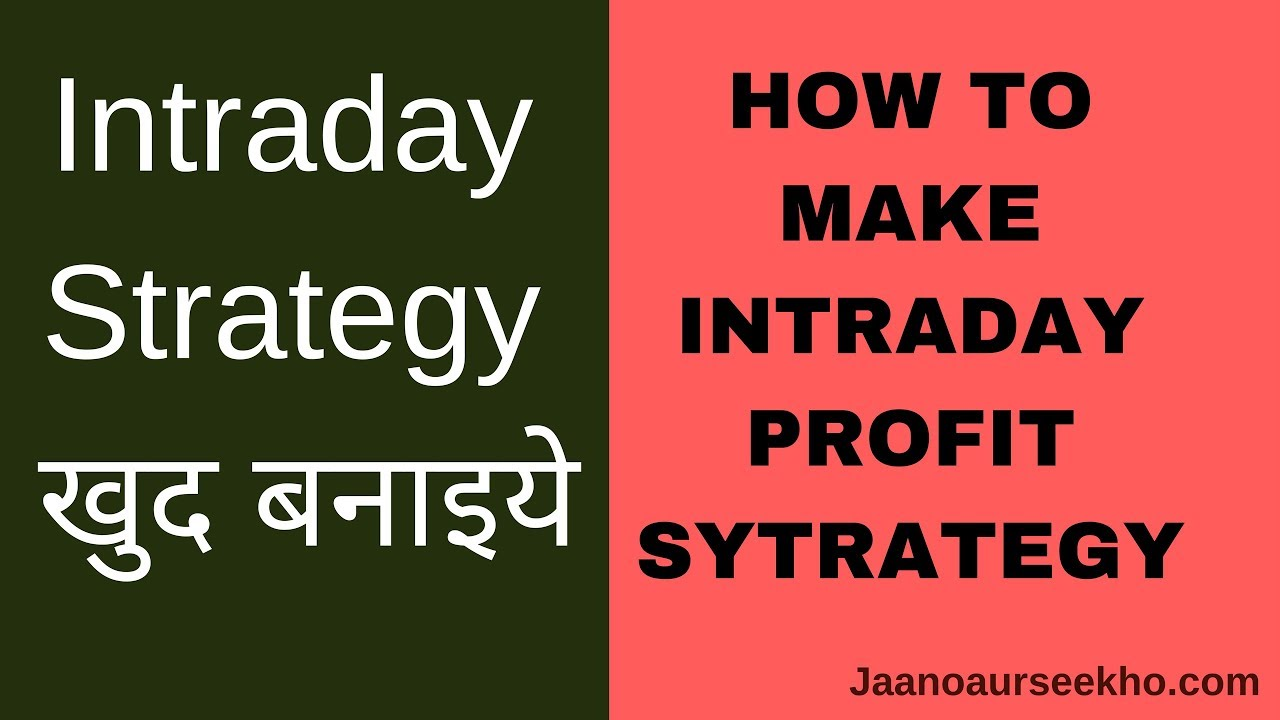 [Hindi] Intraday Profit Strategy - How to design and backtest using Zerodha  Pi and Tradescript