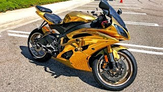GOLD CHROME YAMAHA R6 - WALK AROUND & MODS!!
