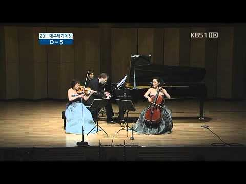 Kyung wha chung and Myung wha chung plays brahms piano trio No.1 1mov
