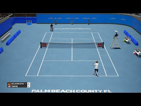 Peter Gojowczyk vs Frances Tiafoe - Delray Beach Open - AO Tennis PS4 Gameplay