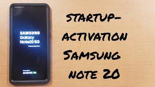 Startup/Activation Samsung Galaxy Note 20