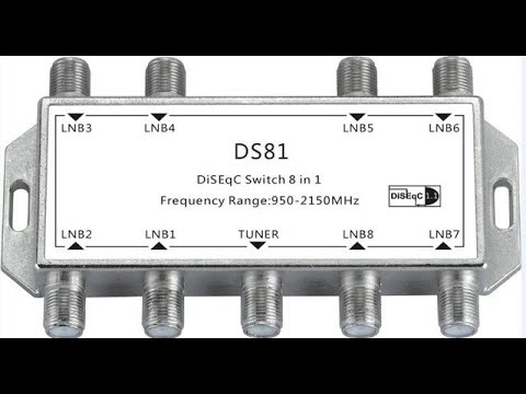 How To Use DiSEqC Switch 8x1 In Hindi