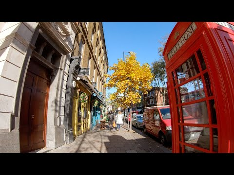 Walking in London: Angel to Highbury & Islington Station [4K, Binaural]