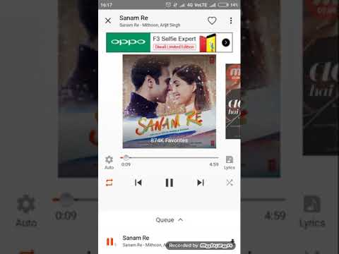 Arijith sing song SANAM RE