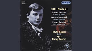 Piano Quintet in C minor Op.1 (1895) , I. Allegro