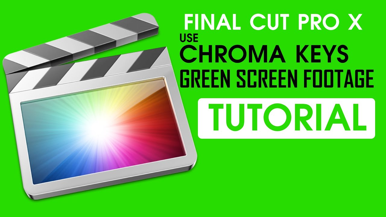 Final cut pro x: use chroma keys.