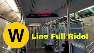 MTA NYC Subway: Riding R160B (W) train from Astoria - Ditmars Blvd - Whitehall St (Full Ride)