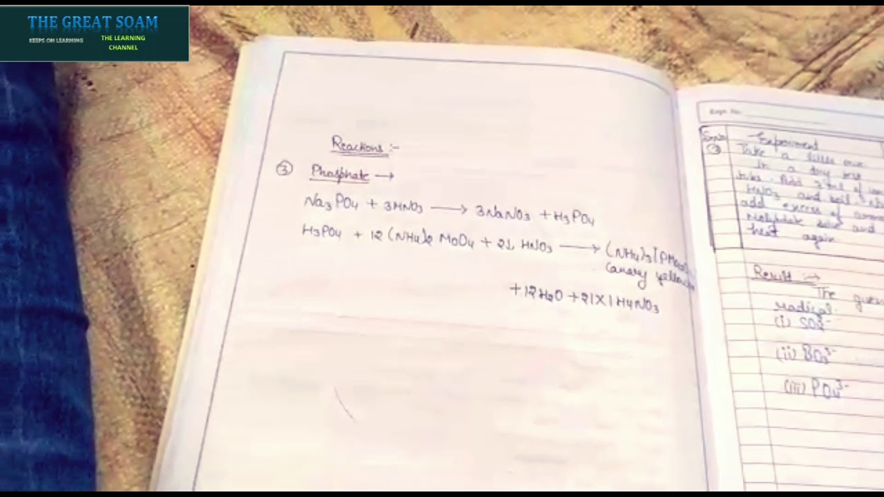 How to make Chemistry practical notebook for B sc 1st year with experiments