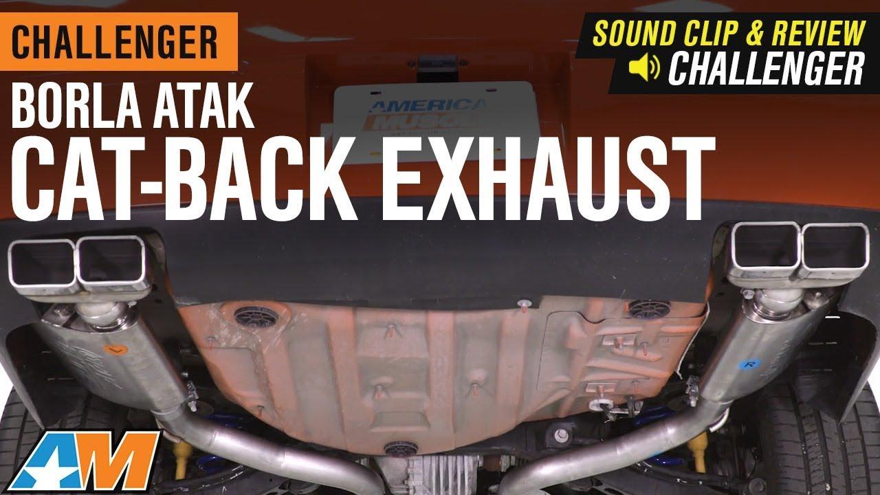 2009 2014 challenger borla atak cat back exhaust 5 7l hemi sound clip review